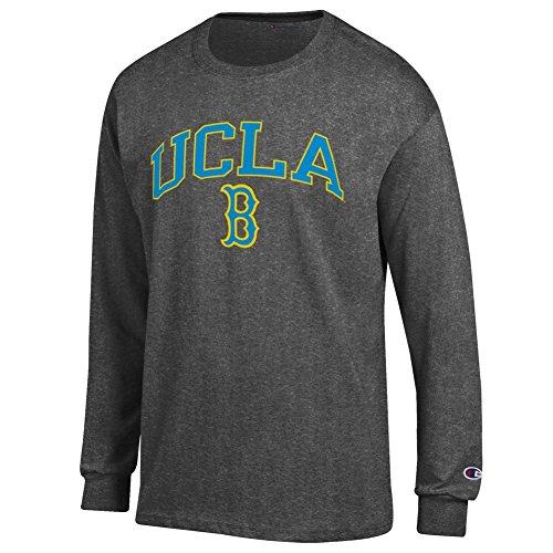 (Elite Fan UCLA Bruins Men's Long Sleeve Arch Tee Shirt, Dark Heather, X Large)