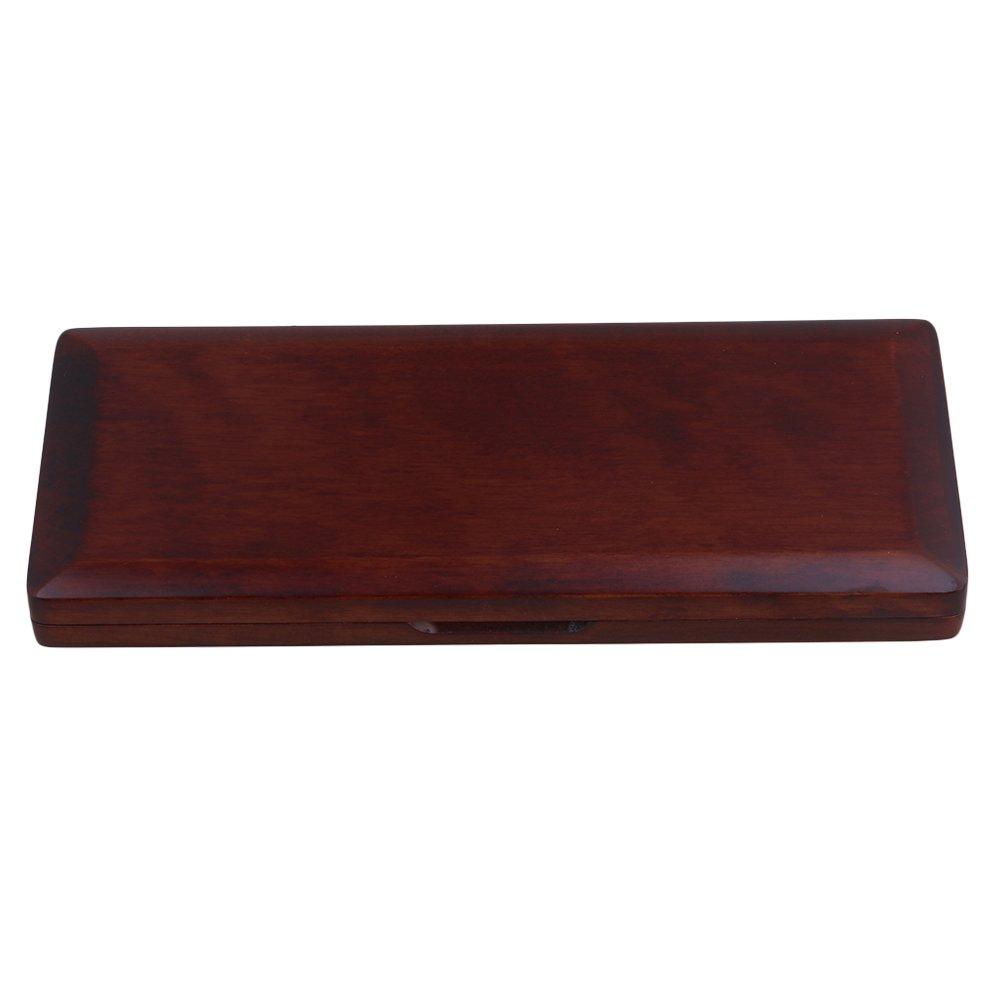 Yibuy Mahogany Color Wooden Bassoon Reed Storage Box Case Hold 10 Reeds Protector with Soft Velvet etfshop Yibuy143