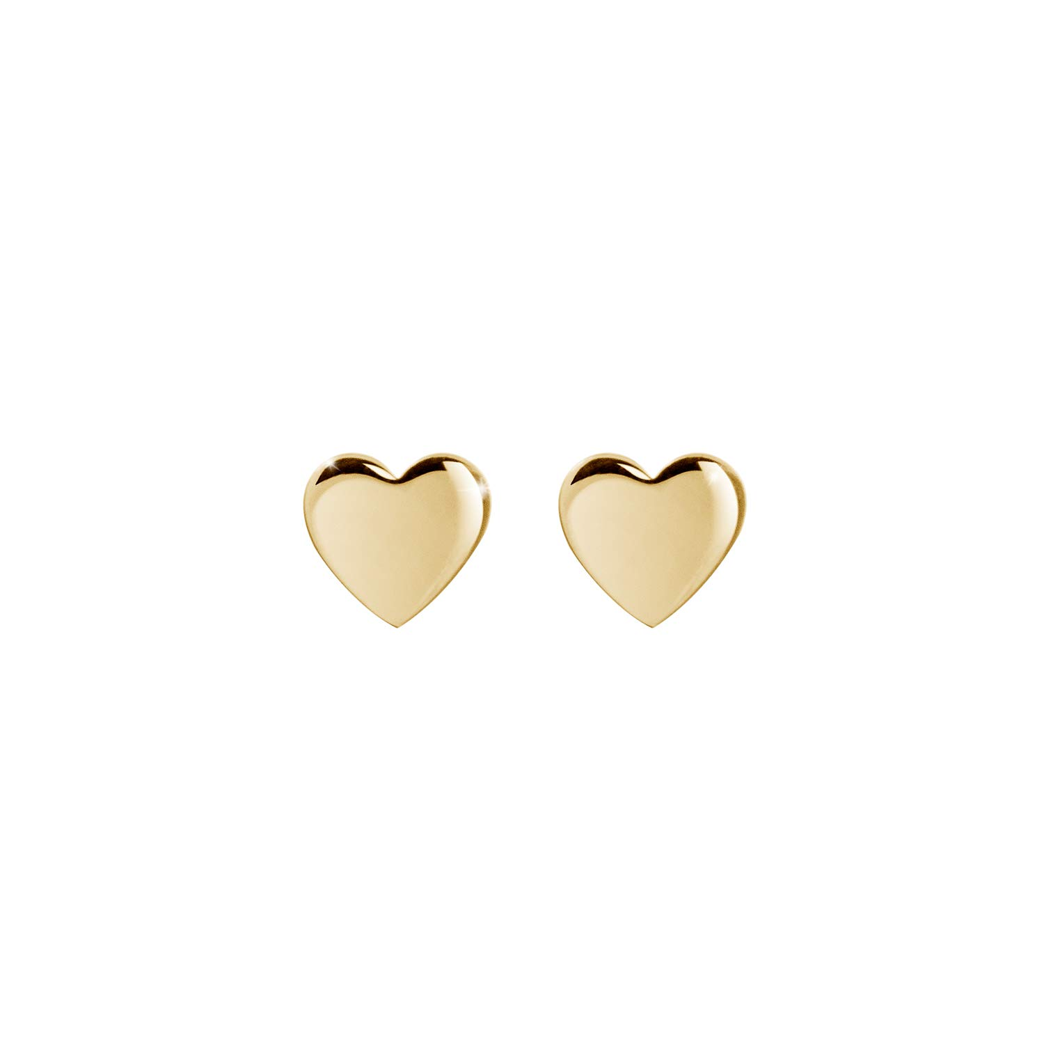 Tiny Heart Stud Earrings Solid White Gold Heart Studs Mini Heart Studs Best Gift For Her Minimalist Everyday Jewelry LITTIONARY