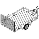 Utility Trailer Plans Blueprints (10' x 6'4'' - Model T1110)
