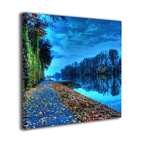 Hanging Decorations Lake Wall Art Decor for Bedroom,Bathroom,Walkway,Living Room Ready to -