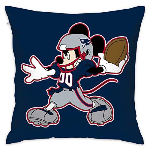 Dalean England Patriots Cartoon Pillowcase, Zipper Pillowcase, Office Pillow Case (17.7