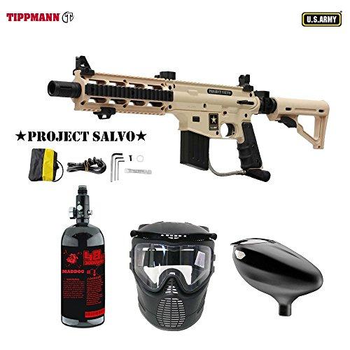 Cheap MAddog Tippmann U.S. Army Project Salvo Beginner HPA Paintball Gun Package – Tan