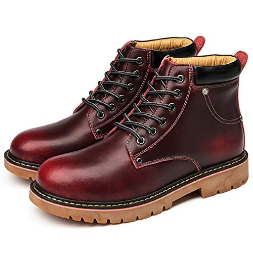 rouge Imperméable Hiver Chaussure mastery Bottes Martin Chaude Bottines Cuir A H Fourrées Homme Boots ROqPww4