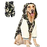 Camo Dog Hoodies Sweatshirts for Medium Large Dogs, 2 Legs Pet Clothes Cotton Warm Dog Coat Jacket Golden Retriever Pit bull Dog Clothes by HongYH