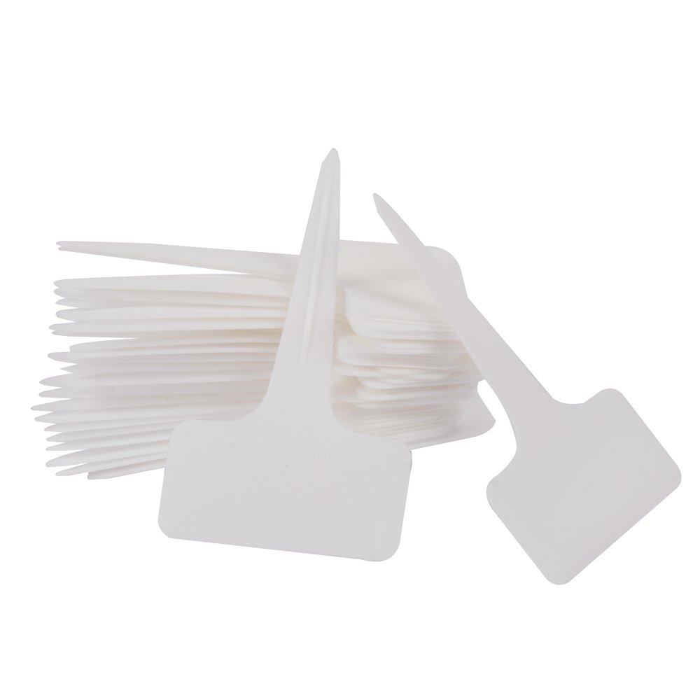 White 100 PCS Thick Plastic Tree Tags Labels Tags Garden Labels Markers Reusable