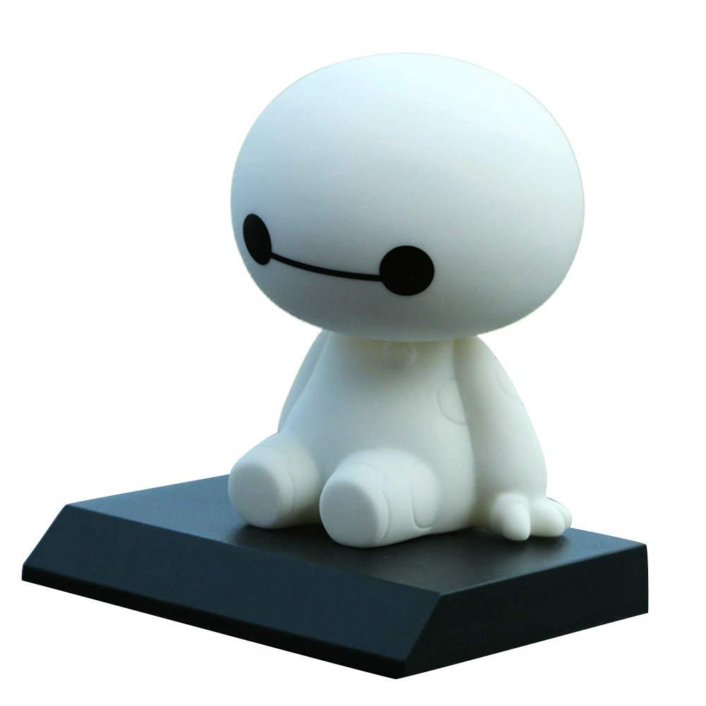 Alivier Robot sacudiendo la Cabeza Figura Coche Adornos Auto Decoraciones Interiores Grandes muñ ecas Blancas Juguetes Ornamento Accesorios