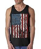 Shop4Ever United States of America Flag Vintage Men's Tank Top USA Flag Tank Tops