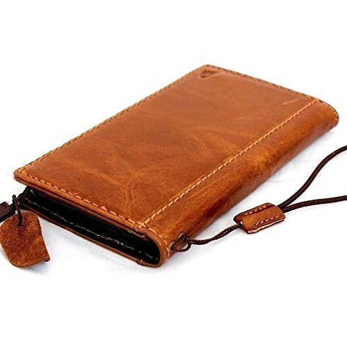 Genuine Italy Real Leather Case for Iphone 6 Plus 6s+ Book Wallet Handmade Business Luxury New ! Band