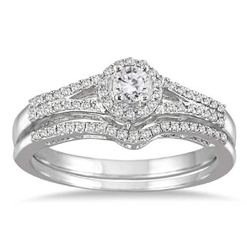 Cut Diamond Bridal Set - 8