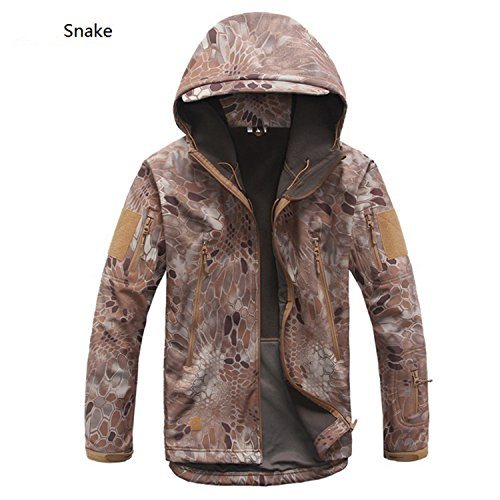 - MRstriver V4 Military Tactical Jacket Men Waterproof Windproof Warm Coat Camouflage Hooded Camo Army Clothing 13 S