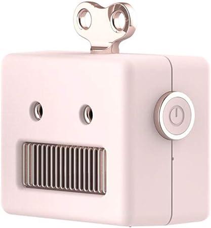 Q&N Altavoz portátil Bluetooth Wireless Mini Robot Retro Shape Altavoces bajo estupendo Sonido de Alta definición de 10 Horas de Tiempo de Juego con micrófono Incorporado,Rosado: Amazon.es: Hogar