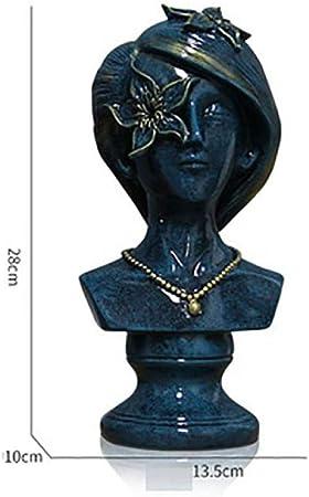 PZAIQ Estatuas para Jardín Estatuas Figuritas Decorativas Hermosa Chica Personaje Estatua Figura Arte Escultura Resina Clásica Oficina En Casa Decoración: Amazon.es: Hogar