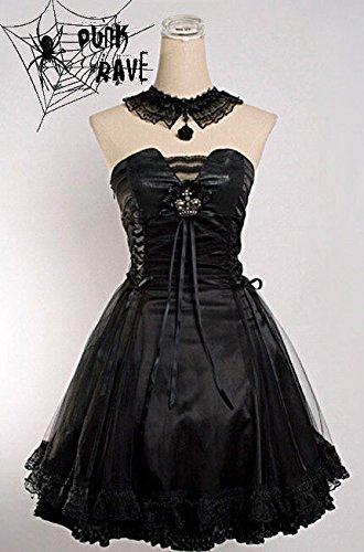 Rave aristocrat Nero 120 girocollo nero Abito Q lolita gothic Punk 8HCqn5nW