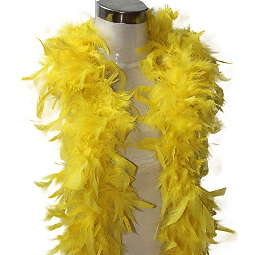 Feather Boas, Fluffy Party Dressup Wedding Party Scarf Costume Accessories Scarf (Yellow, Free Size) ()
