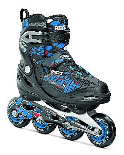 Roces Moody 4.0 Boy's Adjustable Inline Skate, Black/Astro Blue/Red, US 4-7