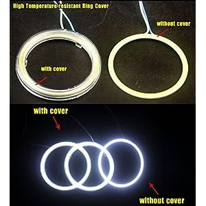 YINTATECH 2 X 90mm HID White 105 COB LED for Angel Eyes Halo Ring Headlight & Fog Housing Lamp