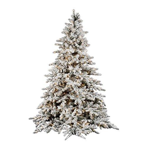 Utica Flocked Pre-lit Christmas Tree (Flocked Utica Tree)