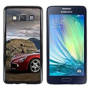 Caucho caso de Shell duro de la cubierta de accesorios de protección BY RAYDREAMMM - Samsung Galaxy A3 - Coche italiano