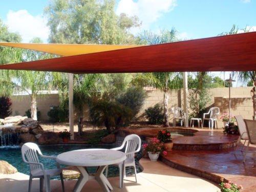 Amazon.com : Square Sun Shade Sail Patio Deck Beach Garden Yard Outdoor Canopy Cover-18x18-Sand : Patio, Lawn & Garden