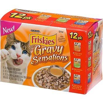 Friskies Gravy Sensations Variety Pack Cat Food Pouches, My Pet Supplies