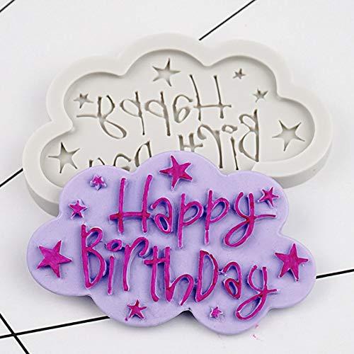 Happy Birthday Cake Mold Happy Birthday Silicone Mold Fondant Mould Cake Decorating Tool Chocolate, Gumpaste Mold, Sugarcraft,Kitchen Gadgets