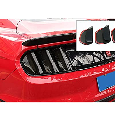 QHCP Acrylic 6Pcs Car Rear Tail Light Lamp Cover Smoked Black Protector Sticker for Ford Mustang 2015 2016 2020: Automotive