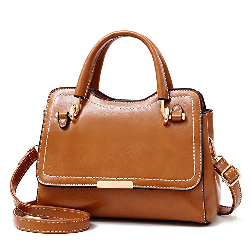 Retro Shoulder Bag Large Capacity Bag Handbags Women Small Party Leather Fashion Casual Pu Messenger Bag Purse Brown