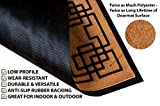"""Welcome Mat Outdoor/Indoor Slonser Doormat 18""""x30"""" Heavy Duty Waterproof Front Door Mats Outside Inside Use Decorative Modern Rubber Entrance Mat for Home - Easy To Clean Surface - LIMITED TIME OFFER"""