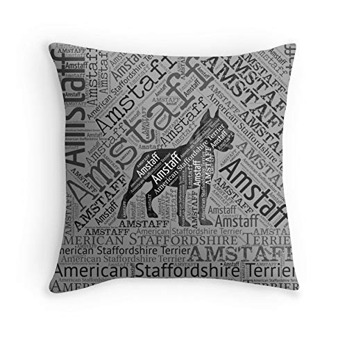 American Staffordshire Terrier – Amstaff for Sofa Couch Living Room Bed Decorative (Square 18×18)