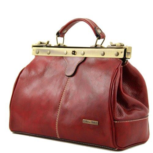 Tuscany Leather, Borsa a spalla donna Rosso rosso