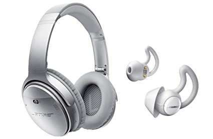 3c17e727021 Image Unavailable. Image not available for. Color: Bose QuietComfort 35  Series II Silver Noise Cancelling Headphones & Bose Noise Masking Sleepbuds  Bundle