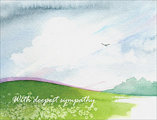 Sympathy Cards - With Deepest Sympathy Peace - Set of 12 Blank Condolences Note Cards and Envelopes (Pce Pack)