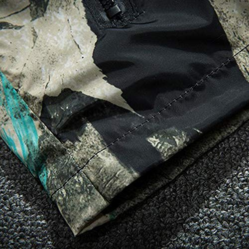 Amazon.com: Mens Autumn Winter Camouflage Print Long Sleeve Zipper Hooded Thin Windbreaker Jacket: Office Products