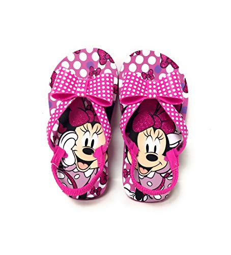 Disney Minnie Mouse Toddler Flip Flop Sandals, Size (7/8) Pink]()