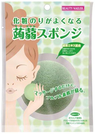bn-cosmetic-glue-is-well-konjac-sponge-green-tea-extract-kjs-2-by-co-muraki-by-co-muraki