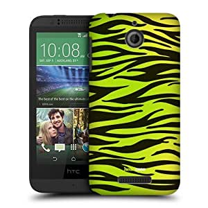 Head Case Designs Yellow Green Zebra Mad Prints Protective Snap-on Hard Back Case Cover for HTC Desire 510 by ruishername
