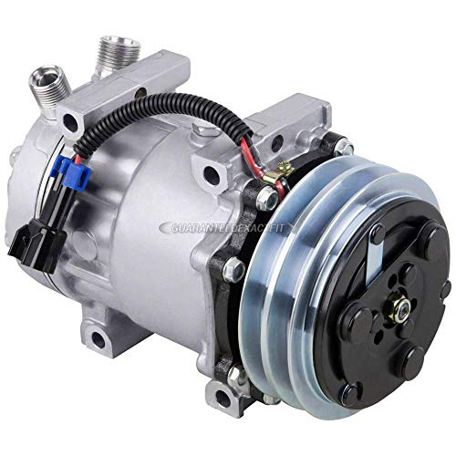 New AC Compressor & A/C Clutch For Freightliner Replaces Sanden 4894 - BuyAutoParts 60-03005NA -