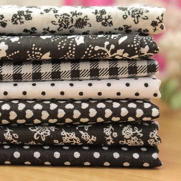 (7pcs 50x50cm Cotton Black Series Sewing Cloth Dolls Purse Handwork DIY Patchwork Fabric - Arts, Crafts & Sewing Textile & Fabric Crafts - 1 x WX-92 150cm Bohemian Thin Chiffon)