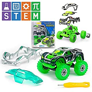 Modarri Turbo Line Space Invaders Monster Truck | Build Your Car Kit Toy Set - Ultimate Toy Car: Make Your Own Car Toy - for Thousands of Designs - Educational Take Apart Toy Vehicle