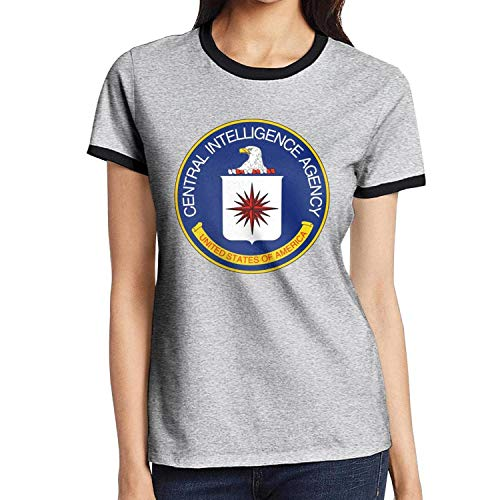 Central Essential T-shirt - dEEQY Ladies' Style Seal of The Central Intelligence Agency T Shirt Cotton Essential Tee Fitness
