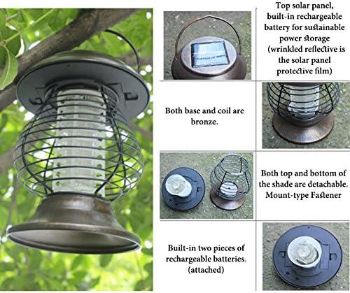 Solaire Mosquito Killer Zyurong Jardin All/ée lumi/ères ext/érieur insectes//Mosquito//Flying Killer l/éger pour le camping la randonn/ée 2/modes d/éclairage