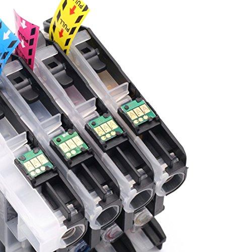 Sotek LC203 Ink Cartridges High Yield, Used with MFC J480DW J680DW J880DW J460DW J485DW J885DW J5520DW J4320DW J4420DW J4620DW J5620 J5720DW Printer (1 Set + 1 BK) Photo #4