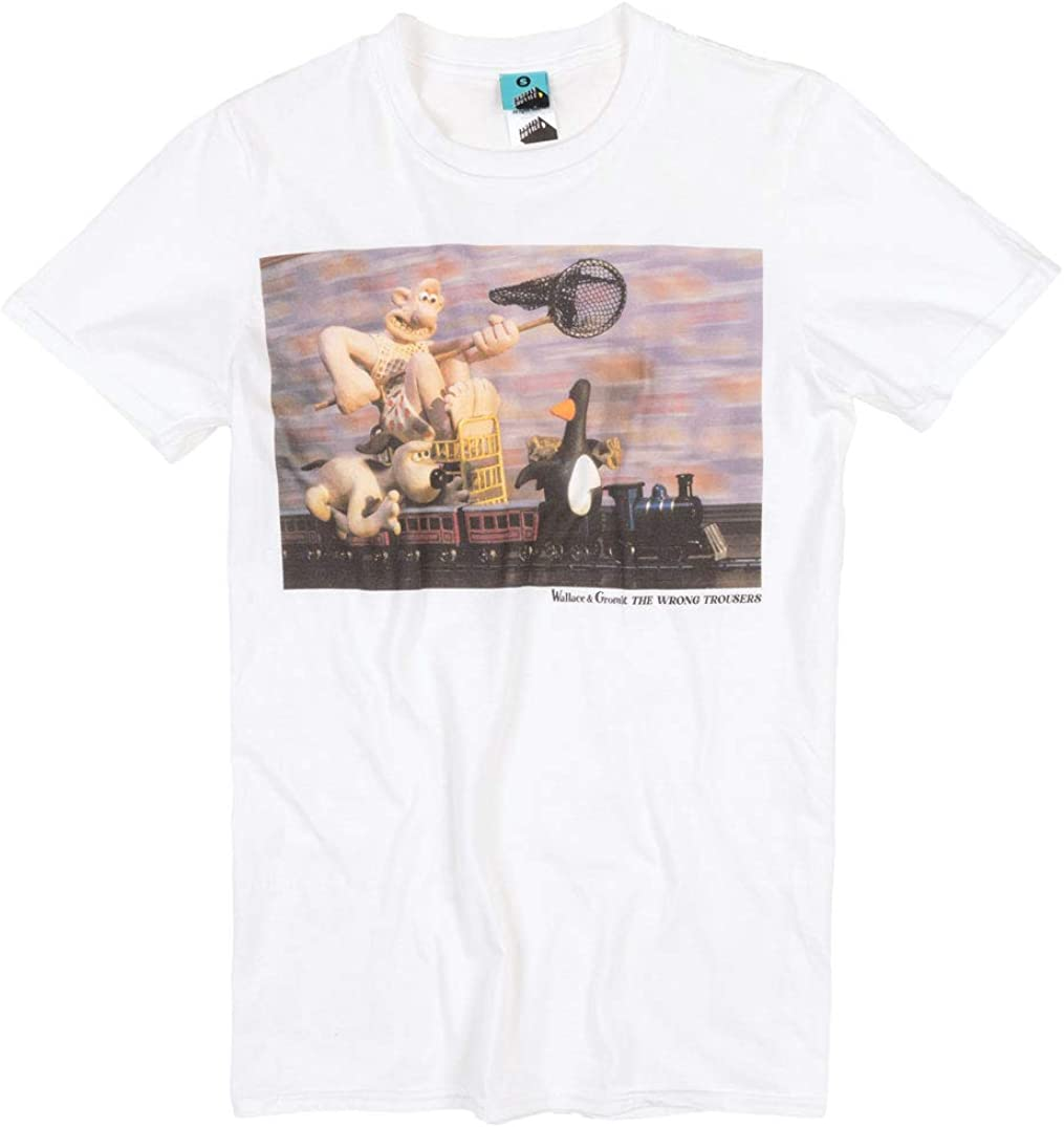TruffleShuffle Wallace and Gromit The Wrong Trousers White T Shirt