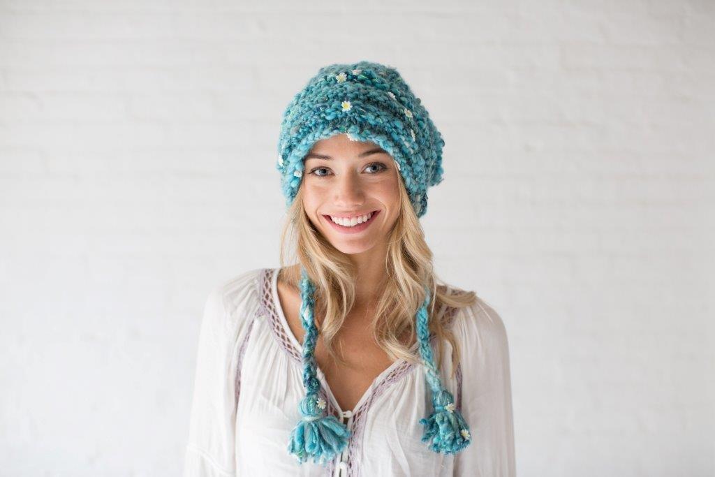 Sombrero Patrón para tejer con lana, kit de punto Slouchy Beanie ...