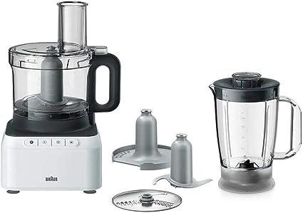 Braun Base FP3131WH Robot de Cocina 2,1 L Gris, Blanco 800 W Base FP3131WH, 2,1 L, Gris, Blanco, Botones, Mezcla, 800 W, 230 mm: Amazon.es: Electrónica