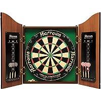 Harrows pro's choice kit fléchettes avec cible de 45 cm avec armoire et 6 fléchettes