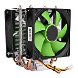 Asixx CPU Cooling Fan, 90mm 3Pin Dual-sided Fan CPU Cooler Heatsink Quiet for Intel: LGA775, LGA1150, LGA1155, LGA1156 ; AMD: AM2/AM2+/AM3/FM1/FM2/754/939/940 etc