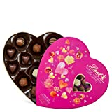 Lindt Valentine Classic Assorted Chocolate - Milk, White, Hazelnut, and Caramel Pink Passion Romance In A Tundras Gift Heart, 6.3 Oz
