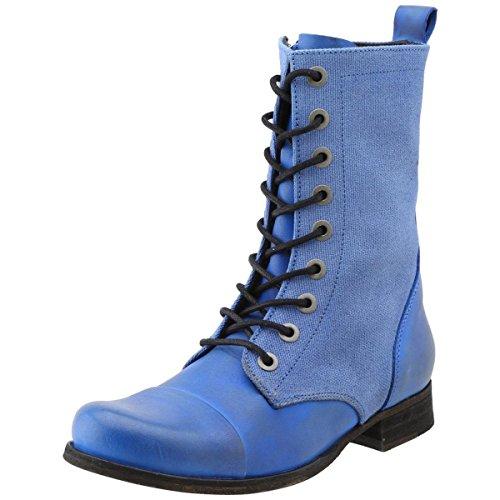 Diesel Women's The Wild Land Arthik Combat Boot,True Blue,7.5 M US - Diesel Women Footwear